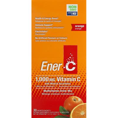 EnerC Vitamin C with Mineral Ascorbates, Orange, 1,000 mg