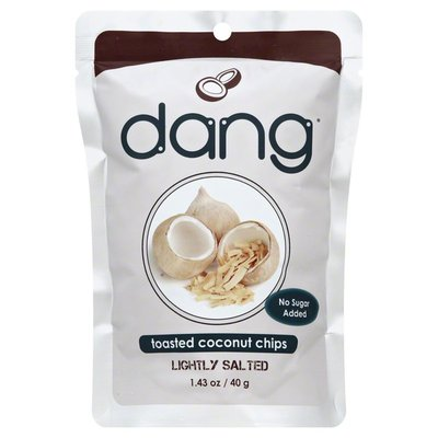 Dang Toasted Coconut Chips, No Sugar Added, Lightly Salted, Bag