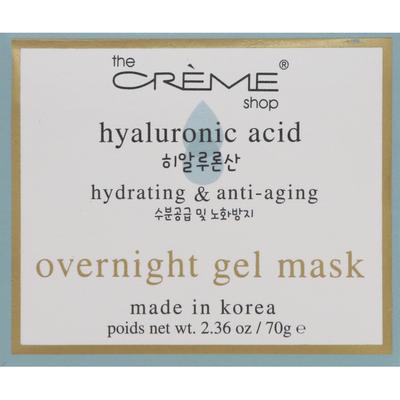 The Crème Shop Mask, Gel, Overnight, Hyaluronic Acid