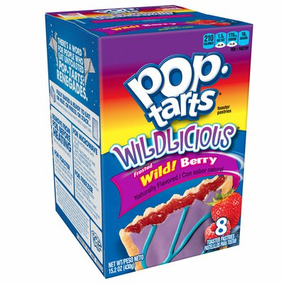 Kellogg's Pop-Tarts Toaster Pastries, Breakfast Foods, Baked in the USA, Frosted Wild! Berry
