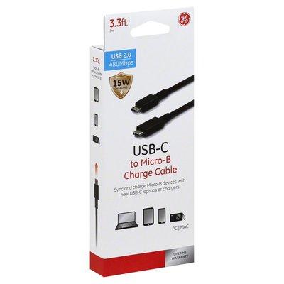 GE Charge Cable, USBC to Micro B