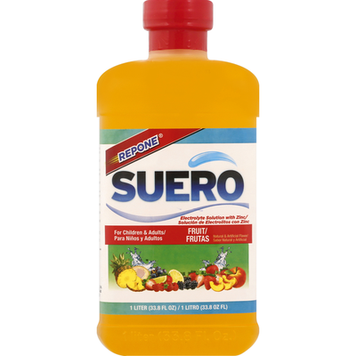 Repone Electrolyte Solution, with Zinc, Fruit