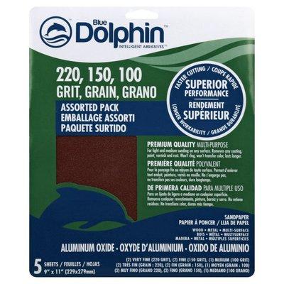 Blue Dolphin Sandpaper, Aluminum Oxide
