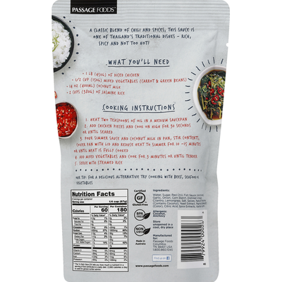 Passage Foods Simmer Sauce, Red Thai Curry