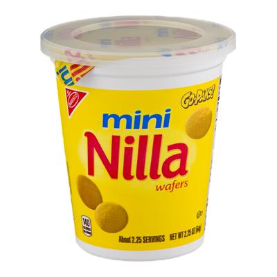 Nilla Mini Vanilla Wafer Cookies, Go-Pak