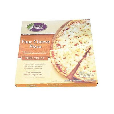Open Nature Pizza, Thin Crust, Four Cheese