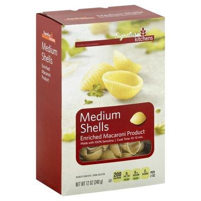 Signature Kitchens Enriched Macaroni Product, Medium Shells