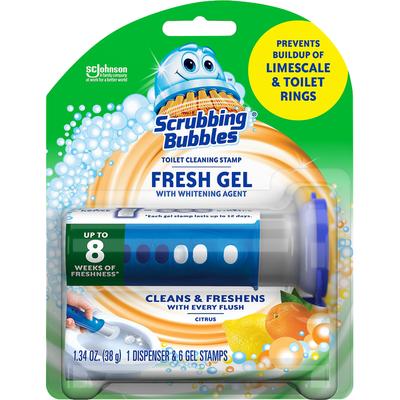 Scrubbing Bubbles Toilet Cleaning Stamp Citrus