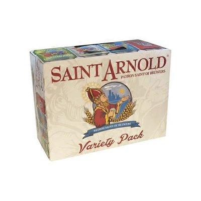 Saint Arnold Headliner blonde ale, fancy lawnmower beer, original amber ale, art car IPA variety pack