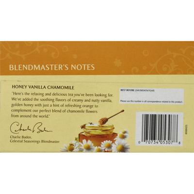Celestial Seasonings Honey Vanilla Chamomile Caffeine Free Herbal Tea Bags