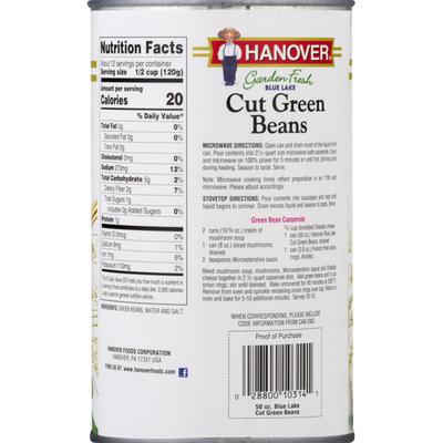 Hanover Green Beans, Cut, Garden Fresh, Blue Lake
