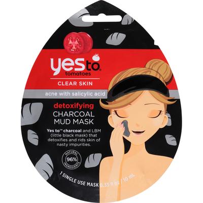 Yes To Mud Mask, Charcoal, Detoxifying