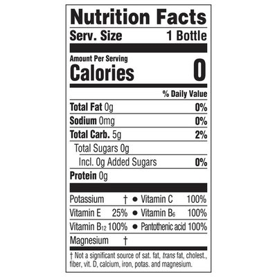 Glaceau Vitaminwater Sugar Shine, Electrolyte Enhanced Water W/ Vitamins, Strawberry Lemonade Drink
