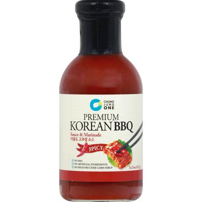 Chung Jung One Sauce & Marinade, Spicy, Korean BBQ