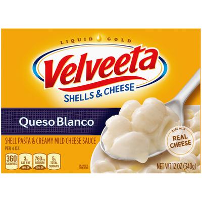 VELVEETA Shells & Cheese Queso Blanco Shell Pasta & Cheese Sauce