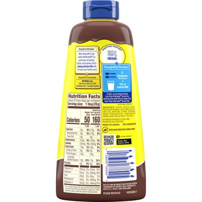 Nestle Nesquik Chocolate Flavored Syrup Chocolate Syrup for Milk or Ice Cream
