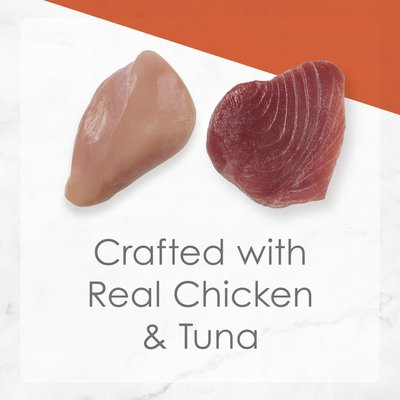 Purely Fancy Feast Wet Cat Food, Flaked Chicken & Tuna Feast