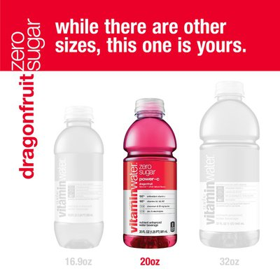 Glaceau Vitaminwater Vitaminwater Zero Power-C Dragonfruit Enhanced Water Beverage