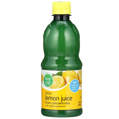 Food Club 100% Lemon Juice From Concentrate