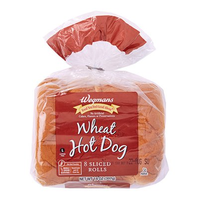 Wegmans Foods You Feel Good About Wheat Hot Dog Rolls, 8 Pack