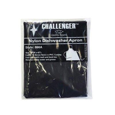 "Challenger Black Nylon Dishwashing Apron, 29"" X 42"""