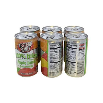 Western Family Apple Juice, Case