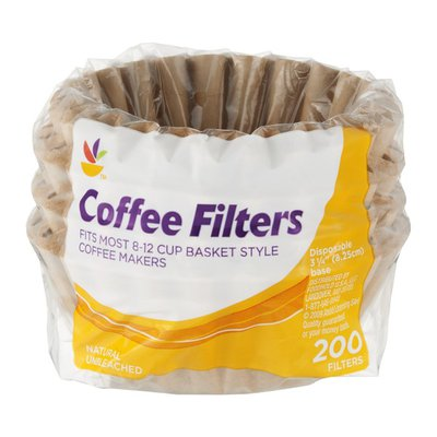 Ahold Coffee Filters Basket Style Natural Unbleached - 200 CT