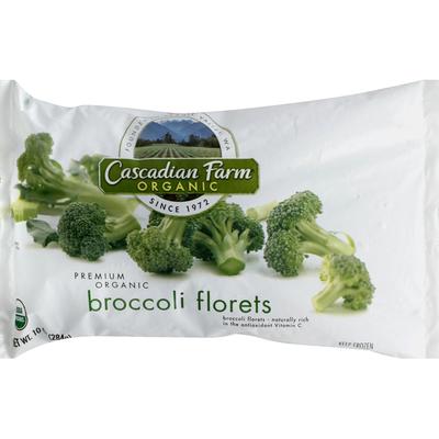 Cascadian Farm Organic, Broccoli Florets, Frozen Vegetables, Non-GMO