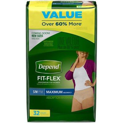 Depend FIT-FLEX Incontinence Underwear for Women