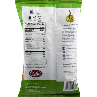 Chifles Plantain Chips, No Salt