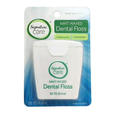 Signature Care Dental Floss, Mint Waxed