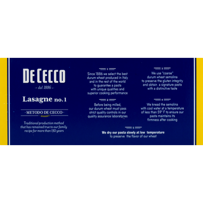 De Cecco Lasagne No. 1