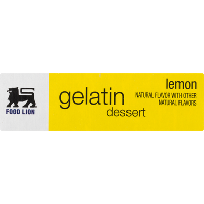 Food Lion Gelatin Dessert, Lemon, Box
