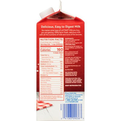 Lactaid Whole Milk (California)