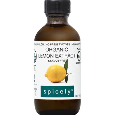 Spicely Organics Lemon Extract, Organic