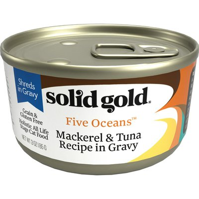 Solid Gold Grain Free Mackerel & Tuna Recipe in Gravy All Life Stages Cat Food