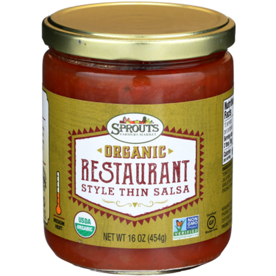 Sprouts Organic Restaurant Style Salsa