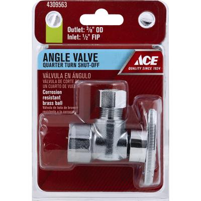 Ace Bakery Angle Valve, Quarter Turn Shut-Off