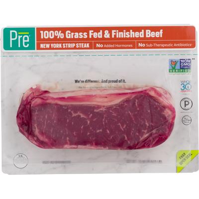 Pre PRE® New York Strip Steak- 100% Grass Fed Fresh Beef