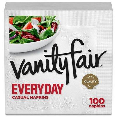 Vanity Fair Everyday Napkins, 100 2-Ply Paper Napkins