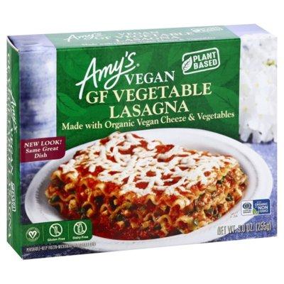 Amy's Kitchen Frozen Vegan Vegetable Lasagna With Daiya Cheeze, Gluten free