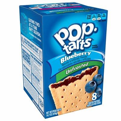 Kellogg's Pop-Tarts Breakfast Toaster Pastries, Unfrosted Blueberry