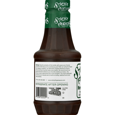 Sticky Fingers Smokehouse Barbecue Sauce, Memphis Original