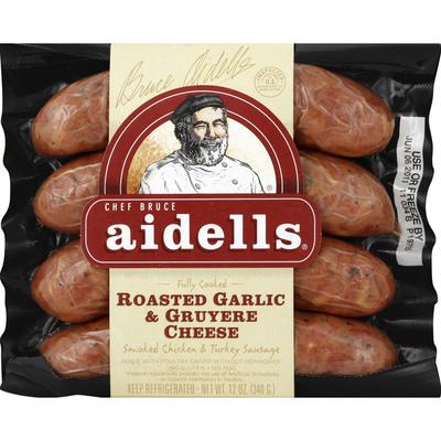 Aidells Smoked Chicken Sausage, Roasted Garlic & Gruyere