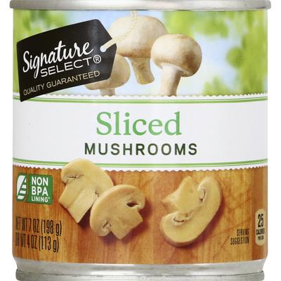 Signature Kitchens Mushrooms, Sliced