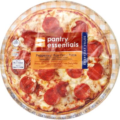 Value Corner Pizza, Thin Crust, Pepperoni