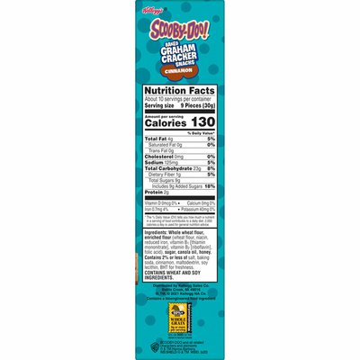 Keebler Baked Graham Cracker Snacks, Made with Whole Grains, Kids Lunch Snacks, Cinnamon