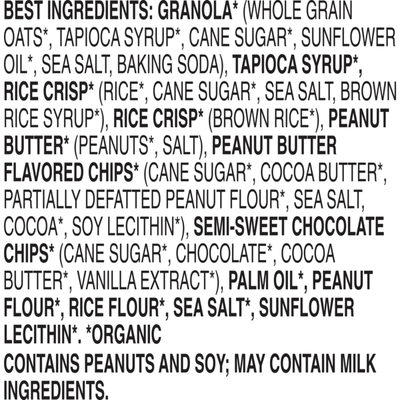 Annie's Organic Chewy Granola Bars, Peanut Butter Chocolate Chip, 6 Count
