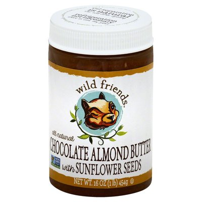 Wild Friends Almond Butter, Chocolate, with Sunflower Seeds