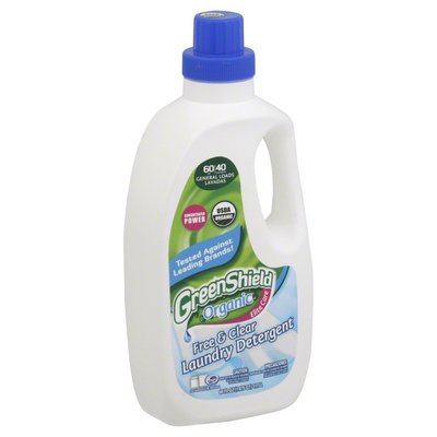 Green Shield Laundry Detergent, Free & Clear